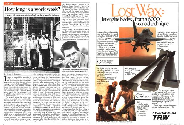 Article Preview: How long is a work week?, August 1981 | Maclean's