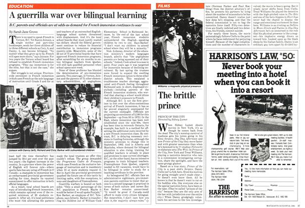 Article Preview: The brittle prince, August 1981 | Maclean's