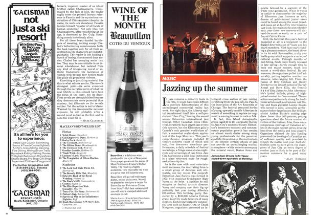 Article Preview: Jazzing up the summer, August 1981 | Maclean's