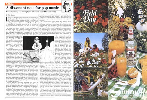 Article Preview: A dissonant note for pop music, August 1981 | Maclean's