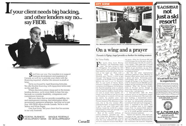Article Preview: On a wing and a prayer, September 1981 | Maclean's