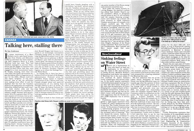 Article Preview: Sinking feelings on Water Street, September 1981 | Maclean's