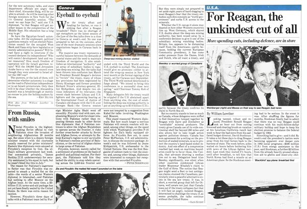 Article Preview: For Reagan, the unkindest cut of all, September 1981 | Maclean's