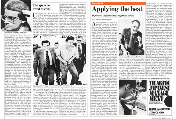 Article Preview: Applying the heat, September 1981 | Maclean's