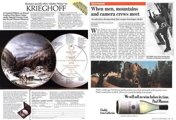 Article Preview: When men, mountains and camera crews meet, September 1981 | Maclean's