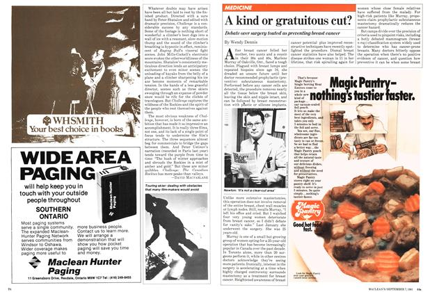 Article Preview: A kind or gratuitous cut?, September 1981 | Maclean's