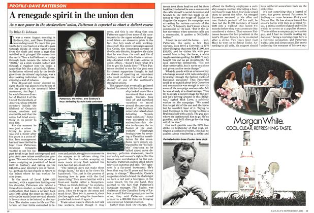 Article Preview: A renegade spirit in the union den, September 1981 | Maclean's