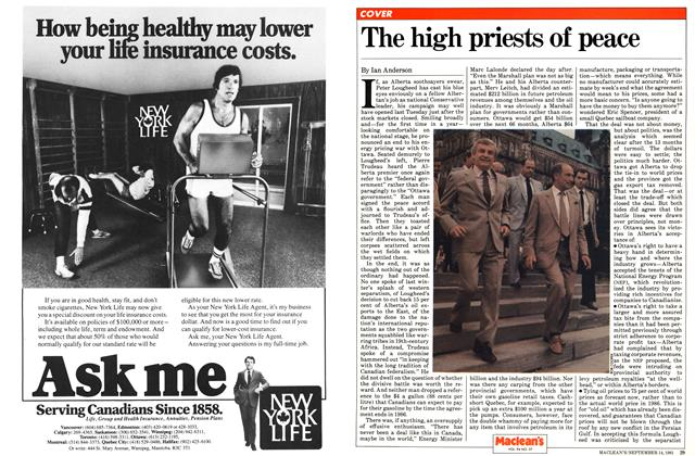 Article Preview: The high priests of peace, SEPTEMBER 14,1981 1981   Maclean's