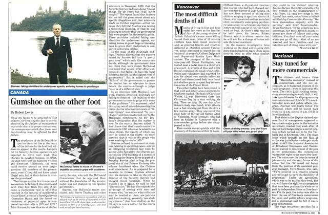 Article Preview: Gumshoe on the other foot, SEPTEMBER 14,1981 1981 | Maclean's