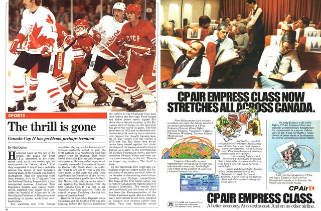Article Preview: The thrill is gone, SEPTEMBER 14,1981 1981   Maclean's