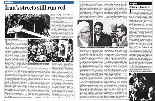 Article Preview: Iran's streets still run red, SEPTEMBER 14,1981 1981 | Maclean's