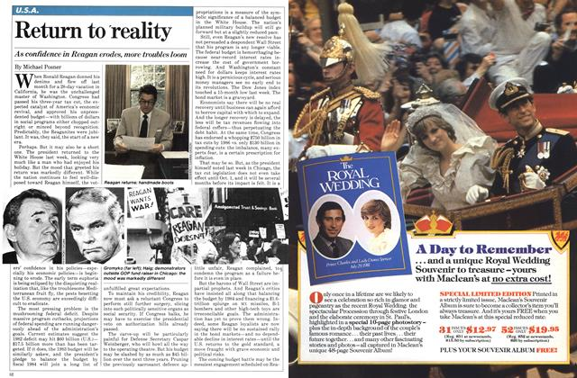 Article Preview: Return to reality, SEPTEMBER 14,1981 1981 | Maclean's