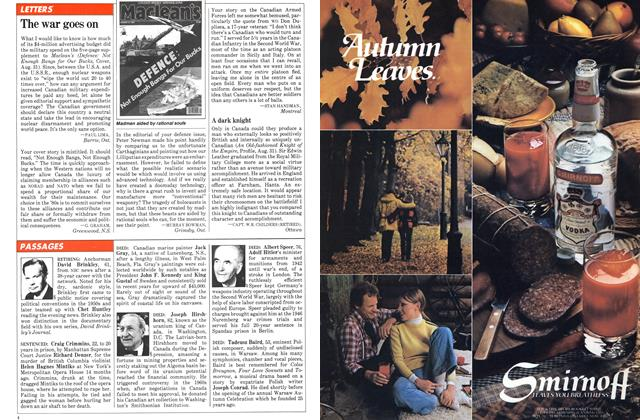 Article Preview: The war goes on, SEPTEMBER 14,1981 1981   Maclean's
