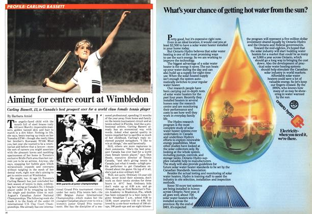 Article Preview: Aiming for centre court at Wimbledon, September 1981 | Maclean's