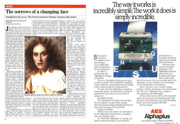 Article Preview: The sorrows of a changing face, September 1981 | Maclean's