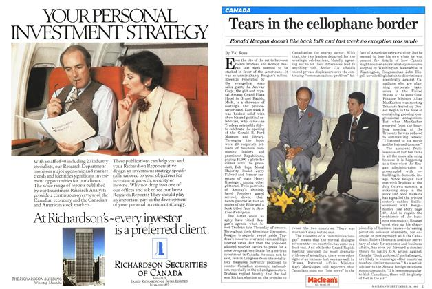 Article Preview: Tears in the cellophane border, September 1981 | Maclean's