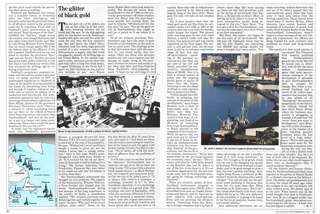 Article Preview: The glitter of black gold, September 1981 | Maclean's