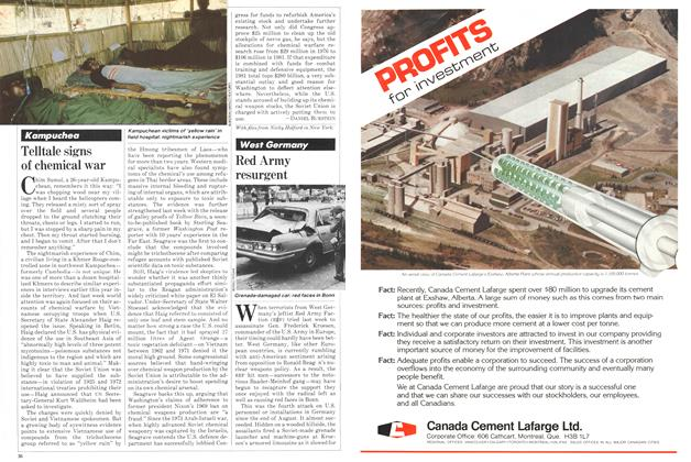 Article Preview: Telltale signs of chemical war, September 1981 | Maclean's