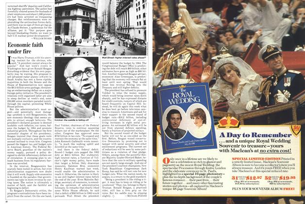 Article Preview: Economic faith under fire, September 1981 | Maclean's