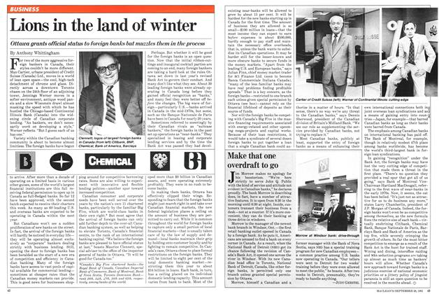 Article Preview: Lions in the land of winter, September 1981 | Maclean's