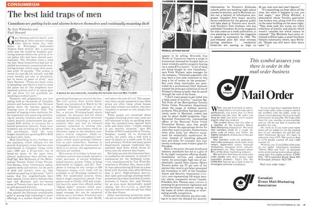 Article Preview: The best laid traps of men, September 1981 | Maclean's