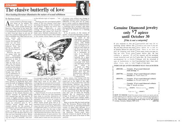 Article Preview: The elusive butterfly of love, September 1981 | Maclean's
