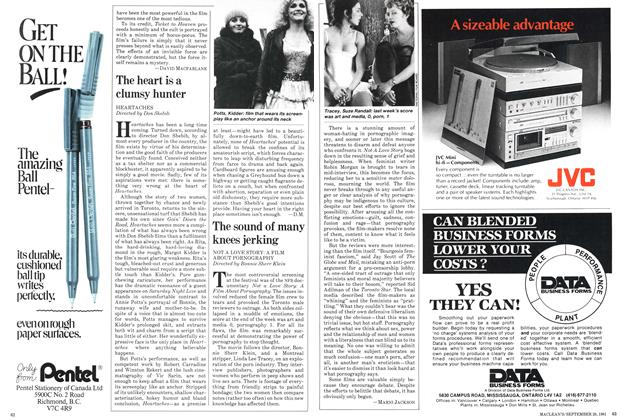 Article Preview: The sound of many knees jerking, September 1981 | Maclean's