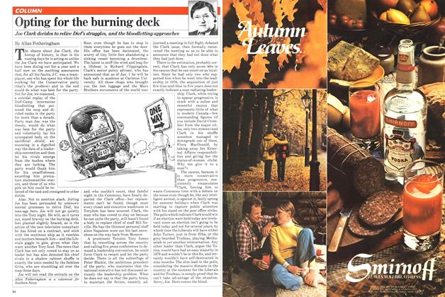 Article Preview: Opting for the burning deck, September 1981 | Maclean's