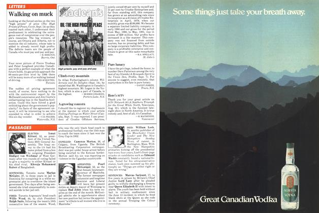 Article Preview: Walking on muck, September 1981 | Maclean's