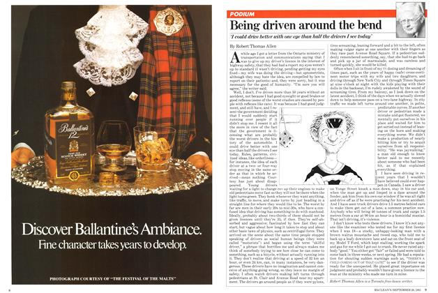 Article Preview: Being driven around the bend, September 1981 | Maclean's
