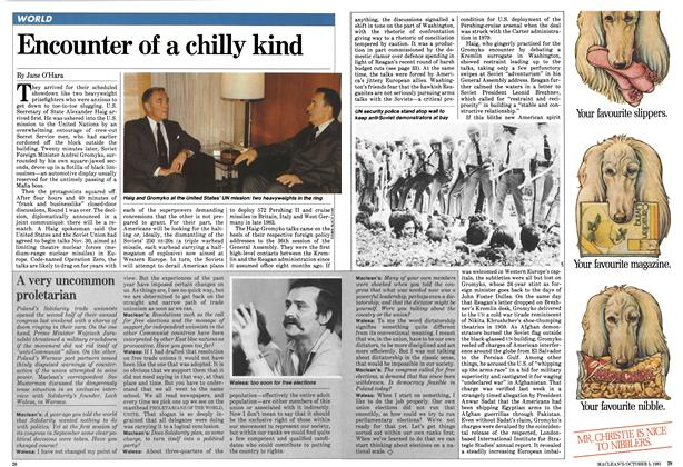 Article Preview: Encounter of a chilly kind, October 1981 | Maclean's