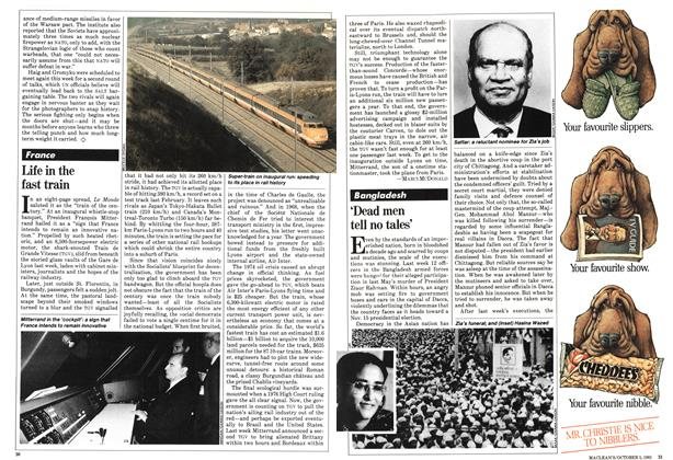 Article Preview: Life in the fast train, October 1981 | Maclean's