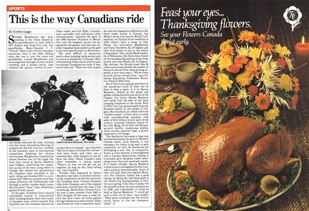 Article Preview: This is the way Canadians ride, October 1981 | Maclean's