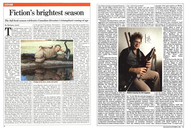 Article Preview: Fiction's brightest season, October 1981 | Maclean's