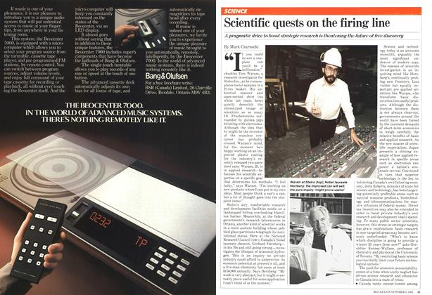 Article Preview: Scientific quests on the firing line, October 1981 | Maclean's