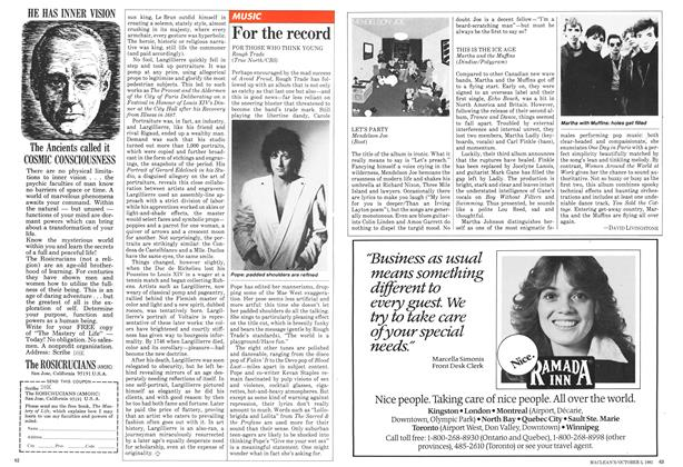 Article Preview: For the record, October 1981   Maclean's