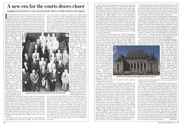 Article Preview: A new era for the courts draws closer, October 1981 | Maclean's