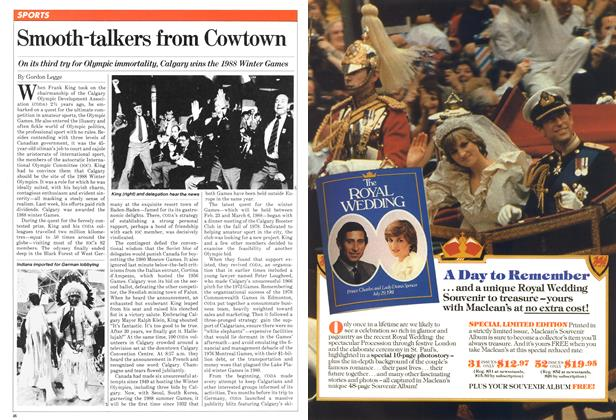 Article Preview: Smooth-talkers from Cowtown, October 1981 | Maclean's