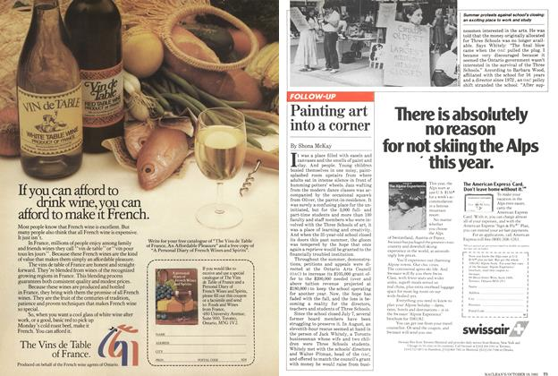 Article Preview: Painting art into a corner, October 1981 | Maclean's