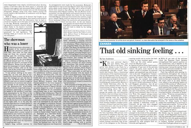 Article Preview: That old sinking feeling..., October 1981 | Maclean's