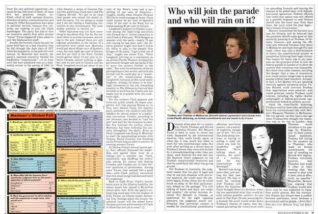 Article Preview: Who will join the parade and who will rain on it?, October 1981 | Maclean's