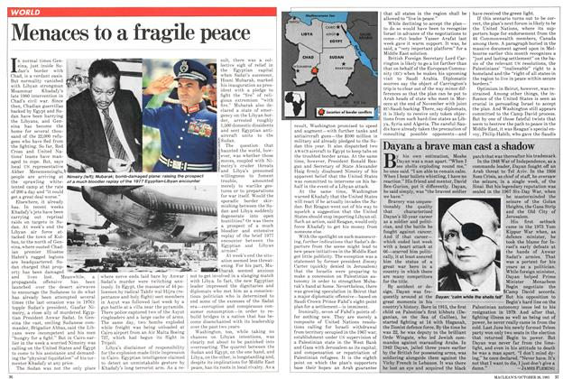 Article Preview: Menaces to a fragile peace, October 1981 | Maclean's