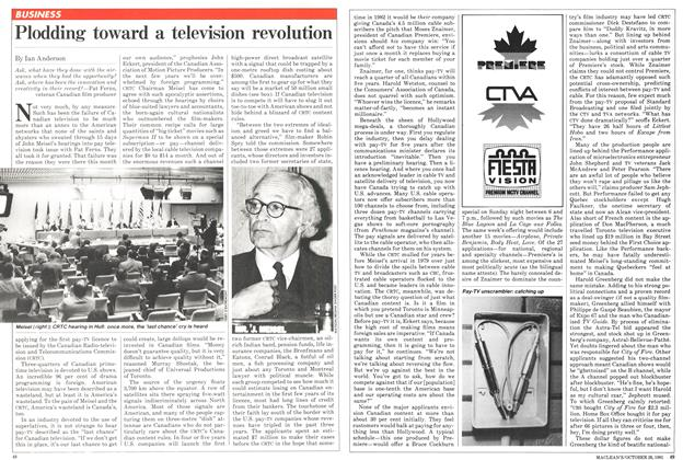 Article Preview: Plodding toward a television revolution, October 1981 | Maclean's