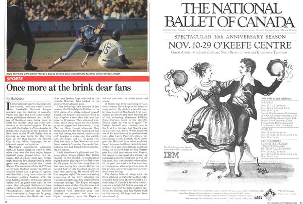Article Preview: Once more at the brink dear fans, October 1981   Maclean's