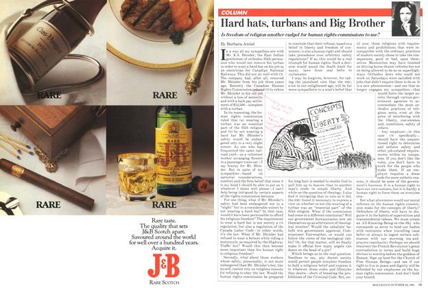 Article Preview: Hard hats, turbans and Big Brother, October 1981 | Maclean's