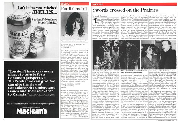 Article Preview: Swords crossed on the Prairies, October 1981 | Maclean's