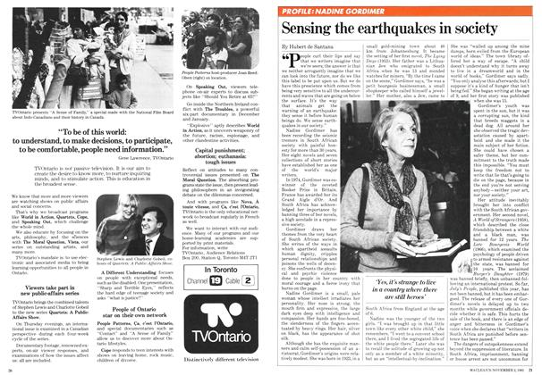 Article Preview: Sensing the earthquakes in society, November 1981 | Maclean's