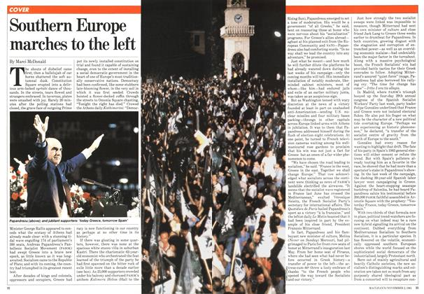 Article Preview: Southern Europe marches to the left, November 1981 | Maclean's