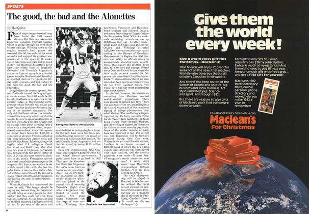 Article Preview: The good, the bad and the Alouettes, November 1981 | Maclean's