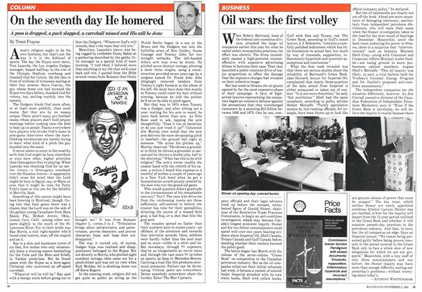 Article Preview: On the seventh day He homered, November 1981 | Maclean's